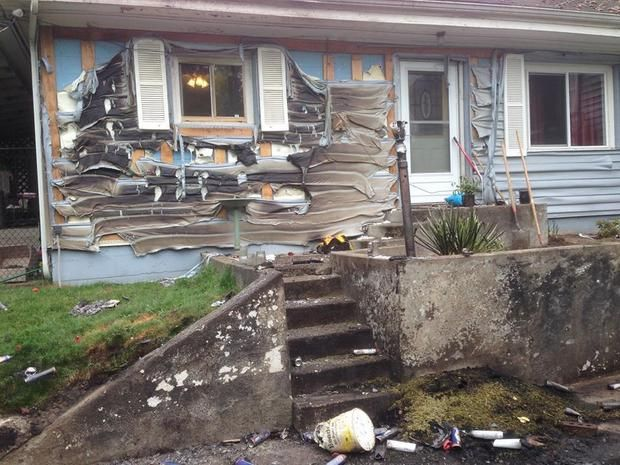 The aftermath of a hash oil explosion in Puyallup, Washington, May 20, 2014