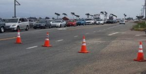 Traffic was held up for several hours on Highway 1