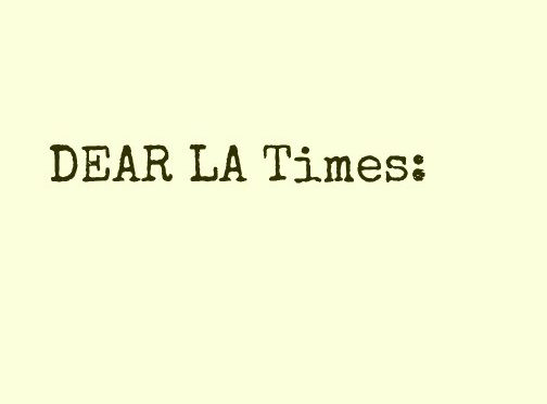 A Reader's Letters on Prop 64 to the Los Angeles Times