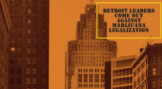 Detroit Leaders Hold Press Conference Against Marijuana