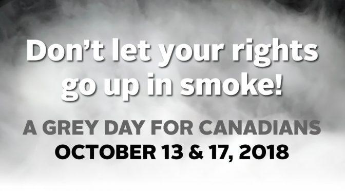 Grey Balloon Day is NON-CELEBRATION AS CANADA LEGALIZES Marijuana